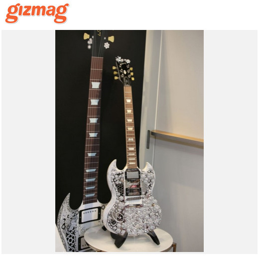 Gizmag diamond guitar